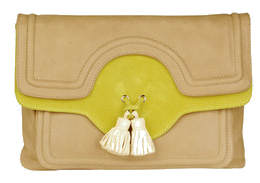 Tila March contrast yellow bag with tassles