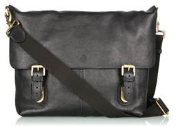 mulberry black barnaby twin lock messenger satchel