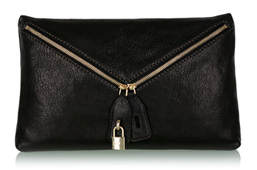 D&G Dolce & Gabbana Black Micol Leather Crossbody Bag