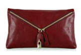 D&G Dolce & Gabbana Red Micol Leather Crossbody Bag