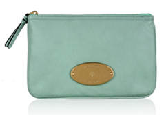Mulberry turquoise Mitzy zip pouch