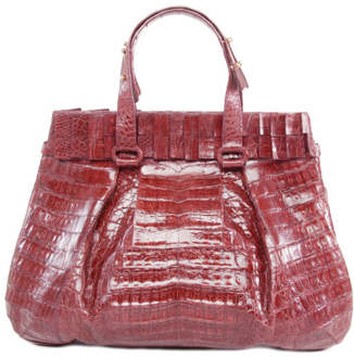 Nancy Gonzalez Berry Crocodile Leather Tote