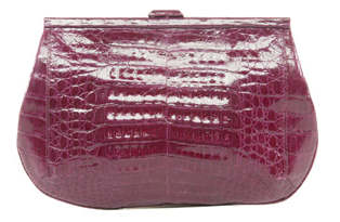 Nancy Gonzalez Crocodile Leather Clutch