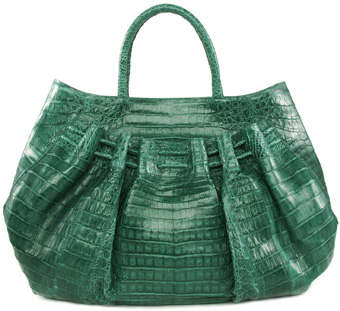 Nancy Gonzalez Shiny green Crocodile Leather Tote