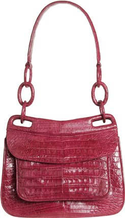 Nancy Gonzalez berry Crocodile Leather Handbag