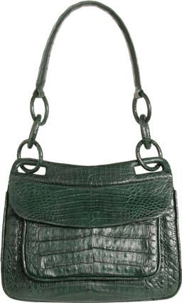 Nancy Gonzalez green Crocodile Leather Handbag