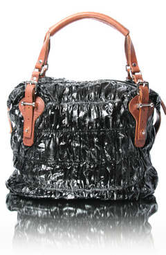 Pauric Sweeney Black Overnight Plisse Bag