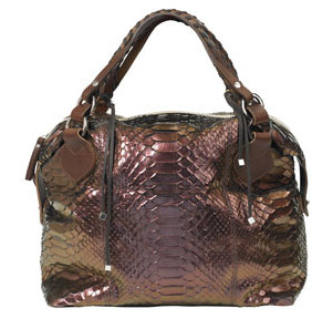 Pauric Sweeney Copper Overnight Python Holdall