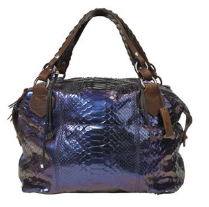 Pauric Sweeney Purple Overnight Python Holdall