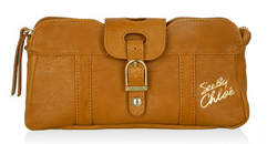 See by Chloé terracotta rise and shine pouch clutch