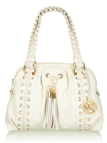 Michael by Michael Kors cream-astor-gromett-plaited-handle-shoulder-bag
