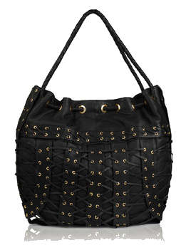Preen Studded Hobo Cage Bag
