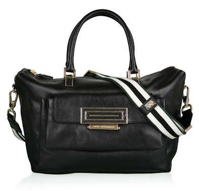 Anya Hindmarch Black three pocket stingray clasp bag