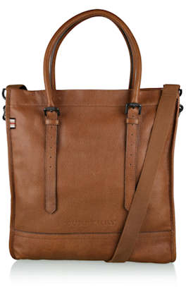 Burberry Tan Leather Croft Tote Crossbody