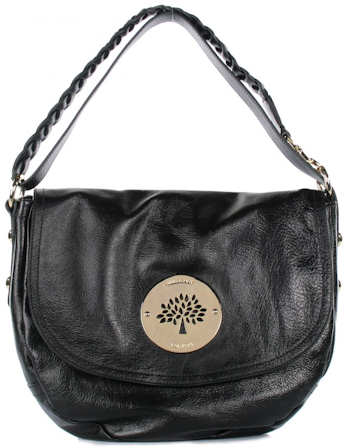 Mulberry Daria Satchel in Black Spongy Leather