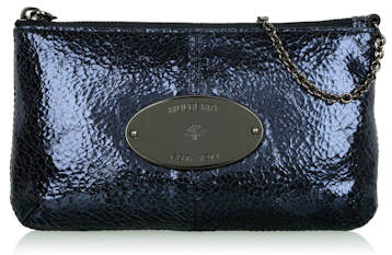 Mulberry midnight-cracked-metallic-charlie-clutch