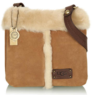 Ugg Australia Chestnut Sheepskin Cross Body Bag