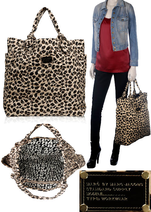 Marc by Marc Jacobs Leopard Print Shopper