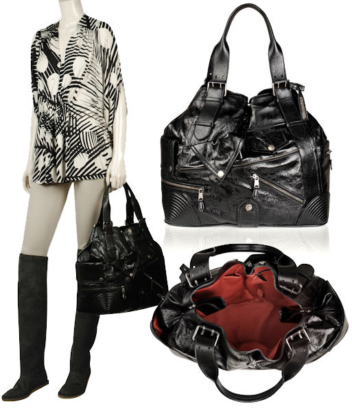 Alexander McQueen Black Leather Large Faithful Tote