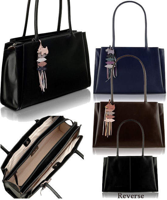 Radley Parliament Hill A4 Tote In Black Purple Or Brown