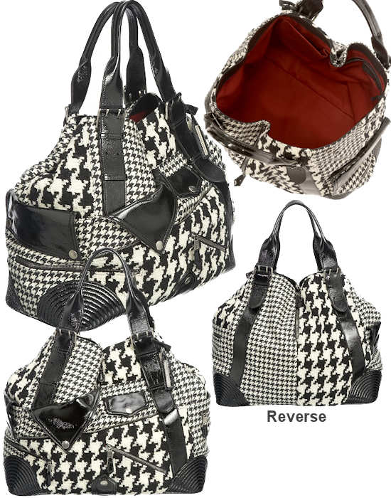 Alexander McQueen Dogtooth Faithful Tote Bag