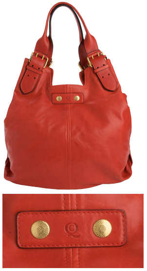 Alexander McQueen Red Faithful Hobo Buckle Bag