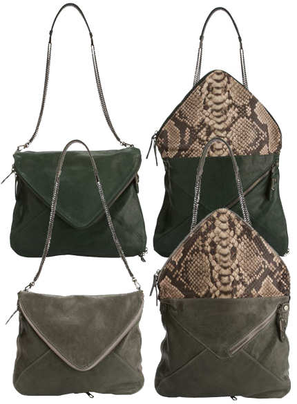 Boyy Slash Python Envelope Bag