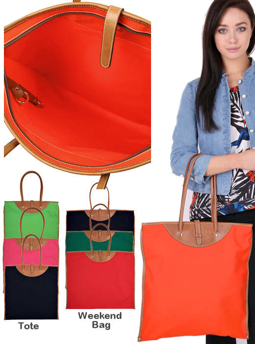 Calabrese Rotolo Canvas Tote and Weekend Bags