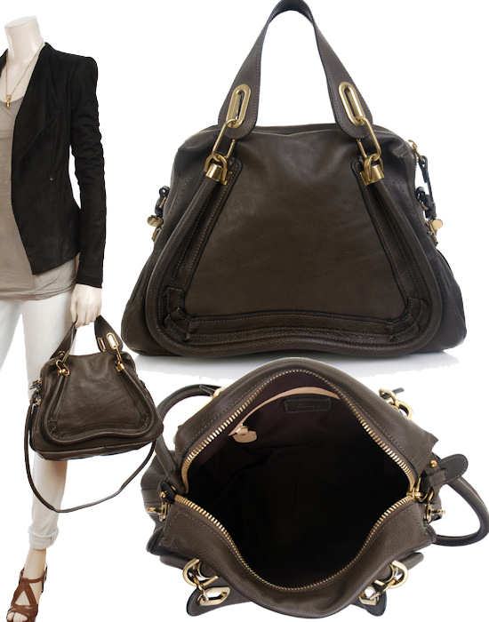 This Chloe Paraty Bag in rich, butter soft calfskin leather is another fine ...