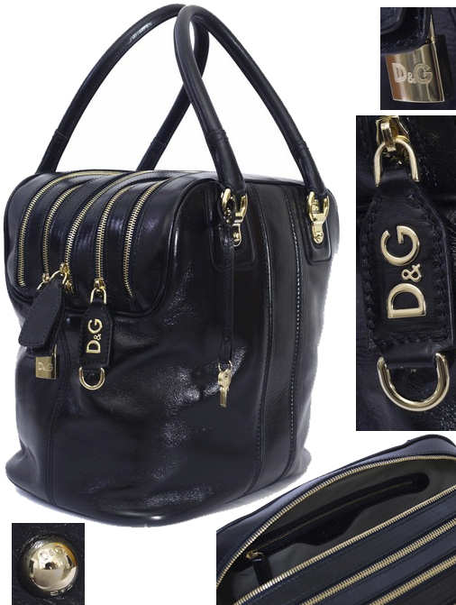 fe191877773a Dolce and Gabbana Navy Lily Bag (Five Zip)
