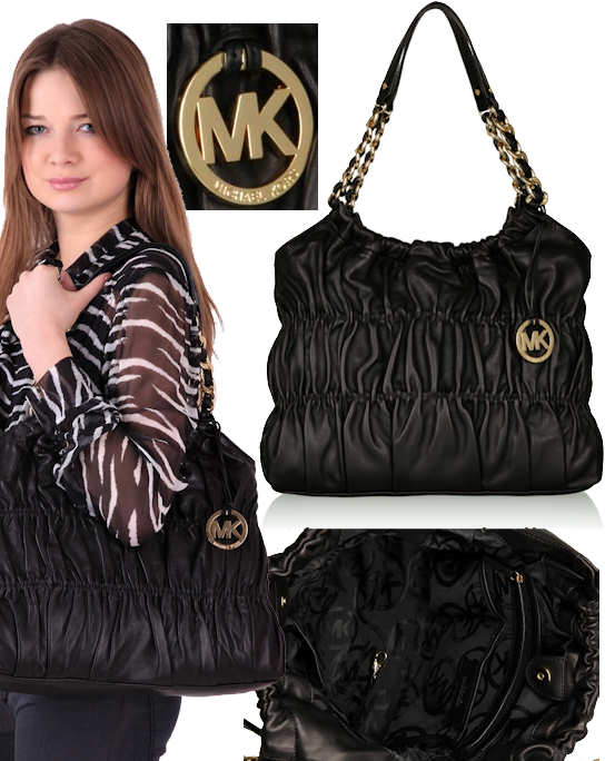 Michael by Michael Kors Webster Ruche Chain Handle Bag