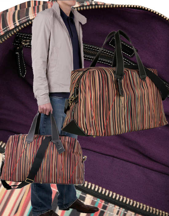 Paul Smith Mens Stripe Weekend Bag