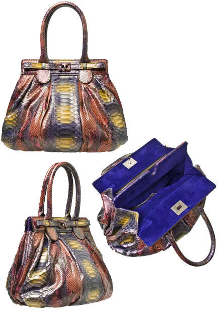 Zagliani Multicoloured Puffy Python Bag