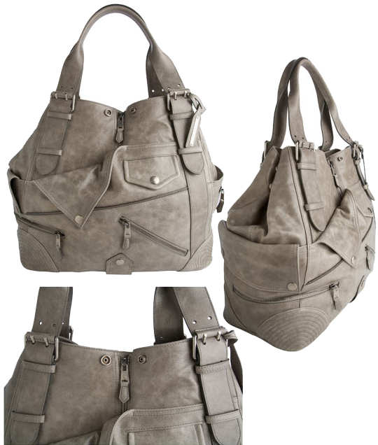 Alexander McQueen Large Faithful Biker Tote Bag - Grey