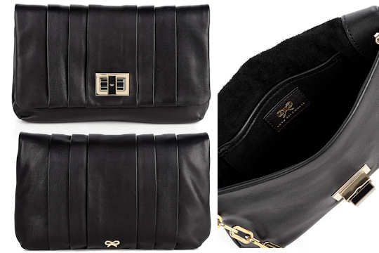 Anya Hindmarch Roslyn Clutch Bag in Black