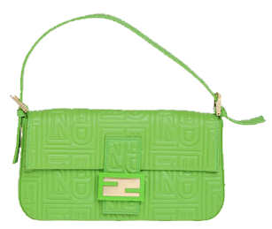 Fendi Small Leather Bag - Lime green