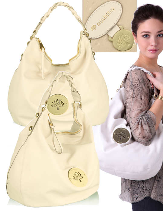 Mulberry Daria Hobo Bag in Ivory