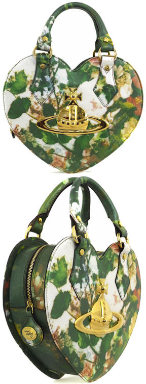 Vivienne Westwood Floral Heart Shaped Ebury Bag