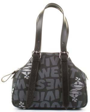 Vivienne Westwood Stoneage Sabbia Tote Bag in Black (Nero) or Beige