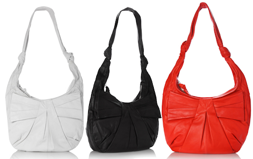 French Connection Super Bow Leather Shoulder Bag