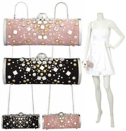 Karen Millen Studded Clutch Bag
