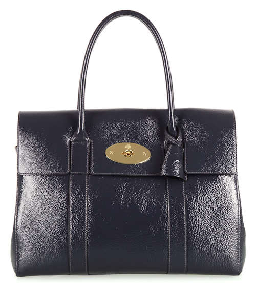 Mulberry Bayswater in Steel Spongy Patent Leather