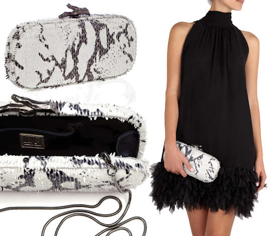 DVF White Zebra Clutch