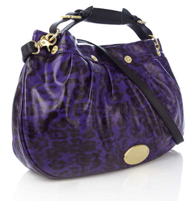 Mulberry East West Hobo Grape Leopard Print