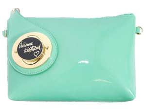 Vivienne Westwood Chatelaine Bag in Aqua Patent Leather 4926