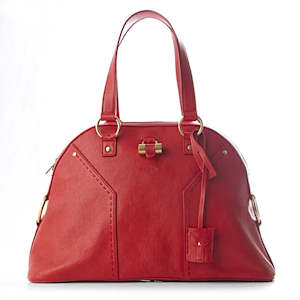 YVES SAINT LAURENT muse tote in red