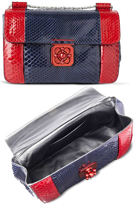 Chloe Elsie Python Bag in Red and Blue