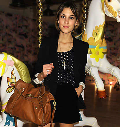Mulberry Alexa Overisized in Oak with Alexa Chung