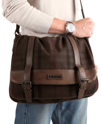Burberry Exploded Check Canvas Messenger Bag