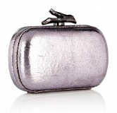 DVF Lytton Lilac Metallic Clutch